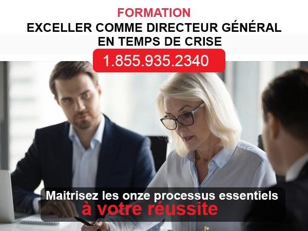 FORMATION - EXCELLER COMME DIRECTEUR GÉNÉRAL